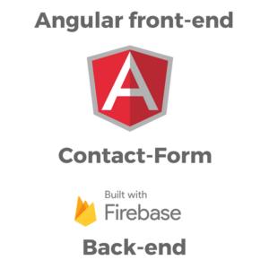 angular and firebase contact form