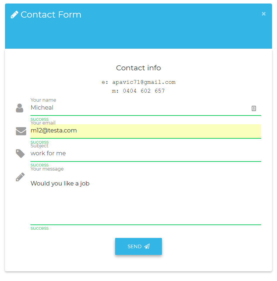 contact_form test firebase